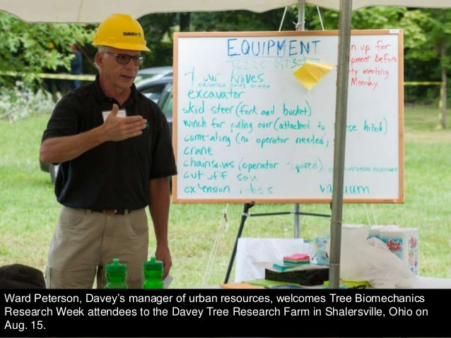 Ward Peterson, Davey's manager of urban resources, welcomes Tree Biomechanics Research Week attendees to the Davey Tree Re...