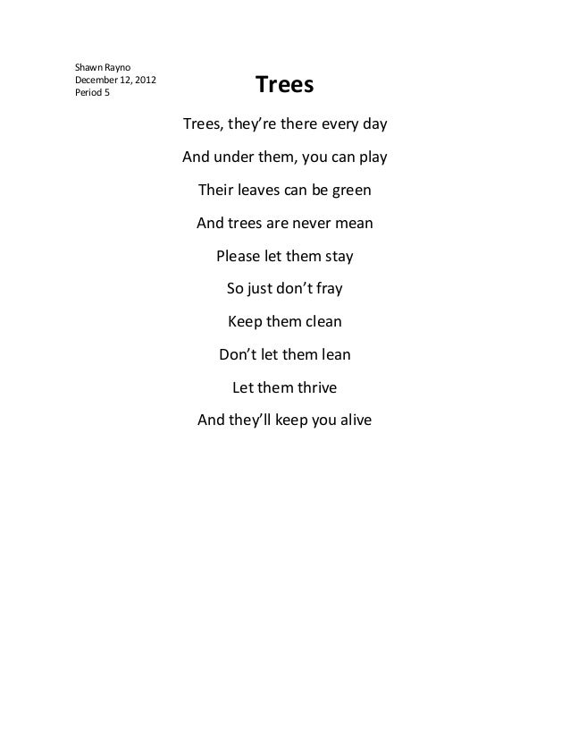 children essay and poems on save trees Poetry skits/drama arts and crafts subject: short essay/speech on 'save trees kids essays, kids speeches.