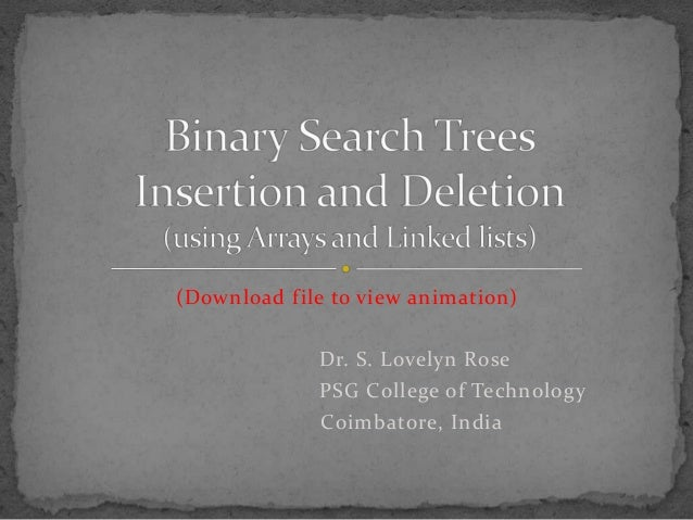 Binary tree insertion and deletion in c