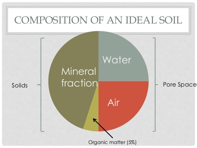 Trees soils and mulch for Mineral constituents of soil