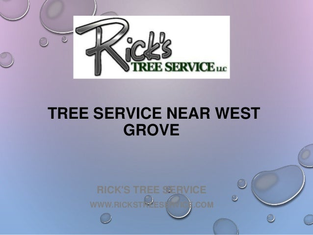 RICK'S TREE SERVICE WWW.RICKSTREESERVICE.COM TREE SERVICE NEAR WEST GROVE