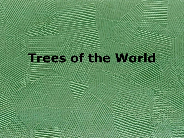 Trees of the World
