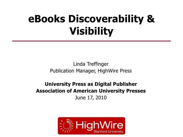 Linda Treffinger presentation for Univ Press as Digital Pub
