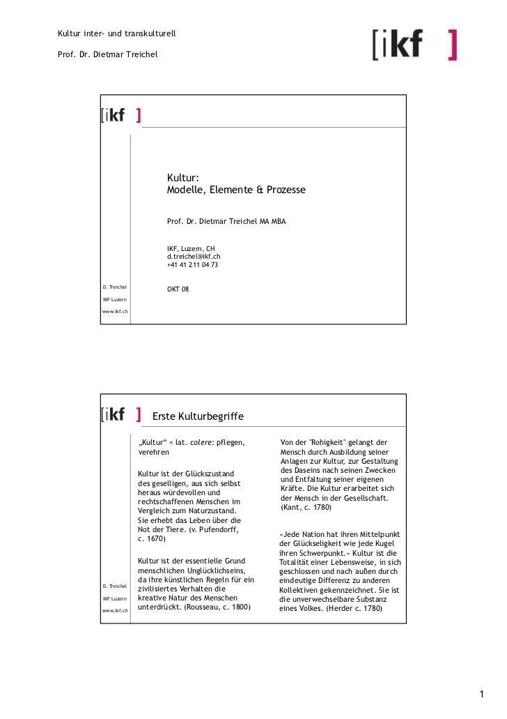 Kultur inter- und transkulturellProf. Dr. Dietmar Treichel                                  Kultur:                       ...