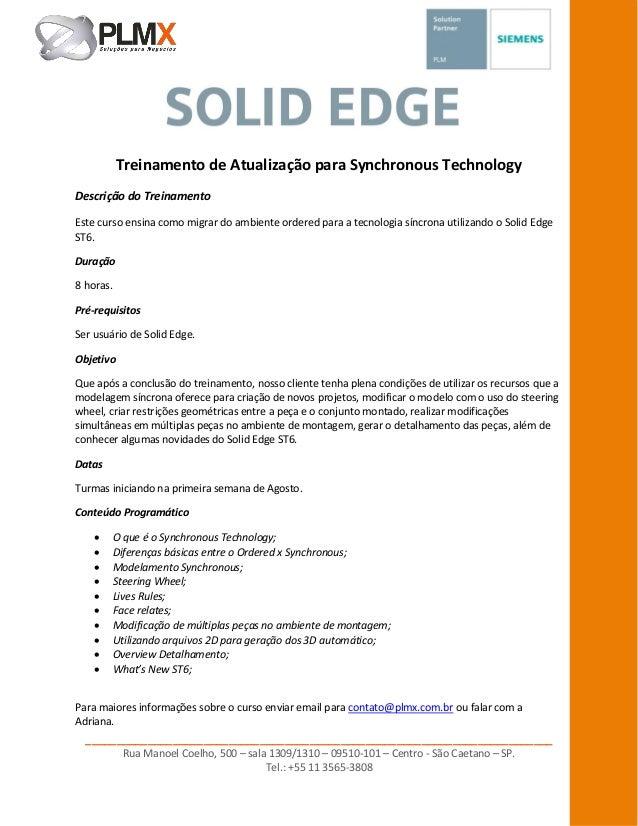Treinamento de Atualização para Synchronous Technology