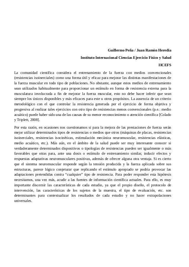 Guillermo Peña / Juan Ramón Heredia  Instituto Internacional Ciencias Ejercicio Físico y Salud  IICEFS  La comunidad cient...