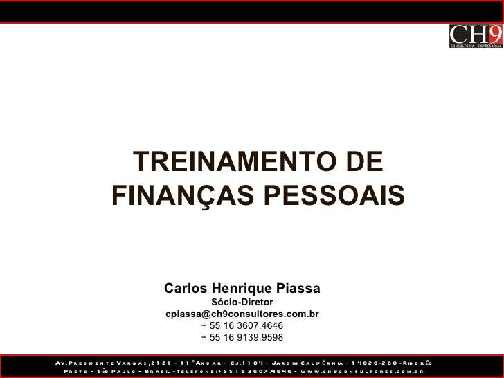 Treinamento finanças pessoais