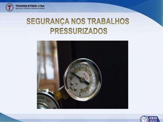 CONTEÚDO PROGRAMÁTICO • Conheça os conceitos de Sistemas Pressurizados • Posicionamento Seguro • Equipamentos de Proteção ...