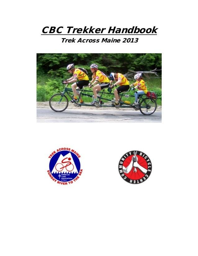 CBC Trekker Handbook   Trek Across Maine 2013