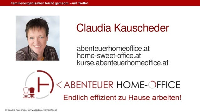 Familienorganisation leicht gemacht – mit Trello! © Claudia Kauscheder www.abenteuerhomeoffice.at abenteuerhomeoffice.at h...