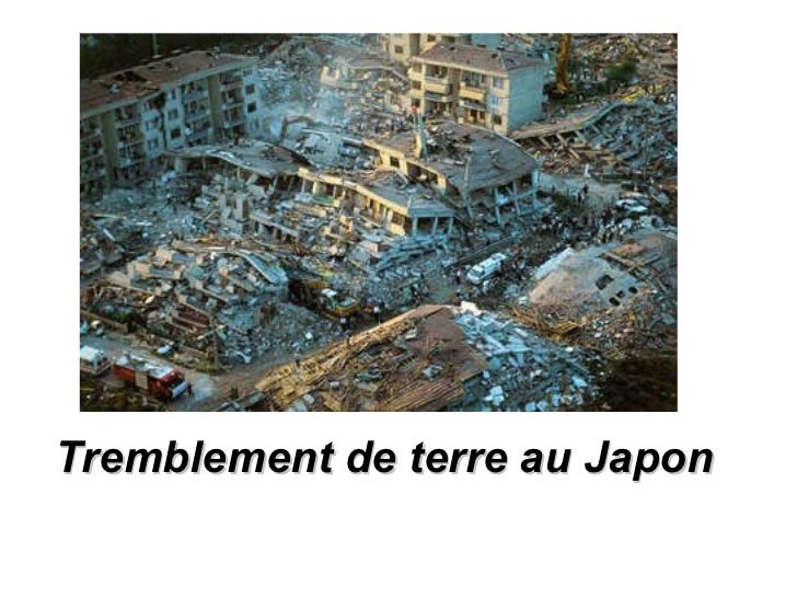 Tremblement de terre au Japon