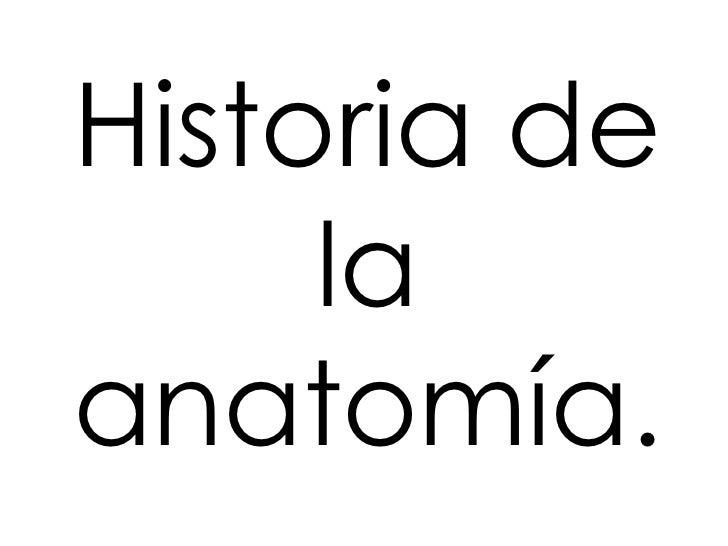 Historia de     laanatomía.