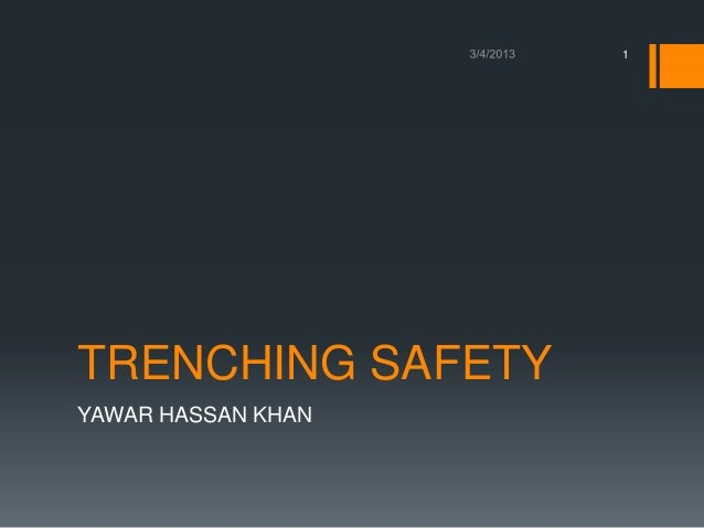 Trenching safety