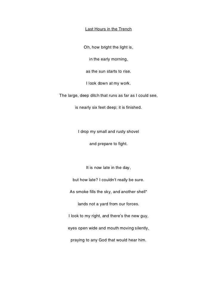 Trench poem