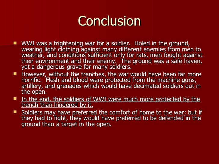 World War 1 introduction and conclusion?
