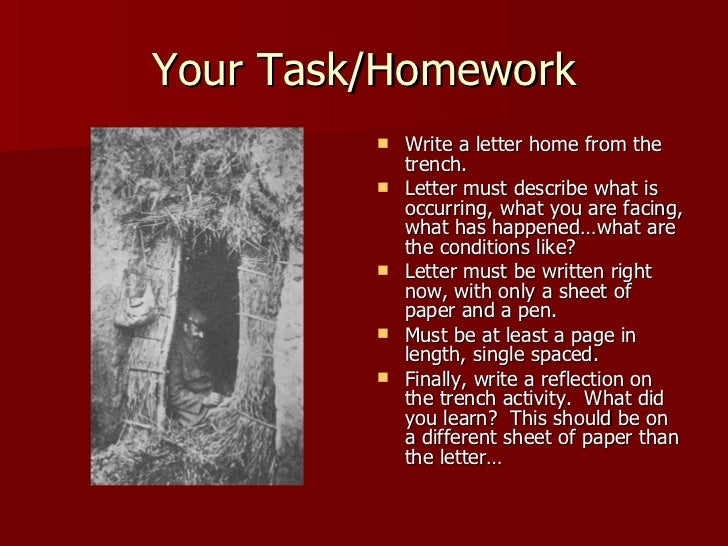 letter from the trenches essay