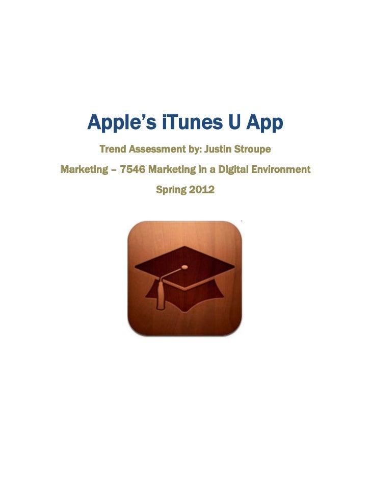 Trend assessment i Tunes u app