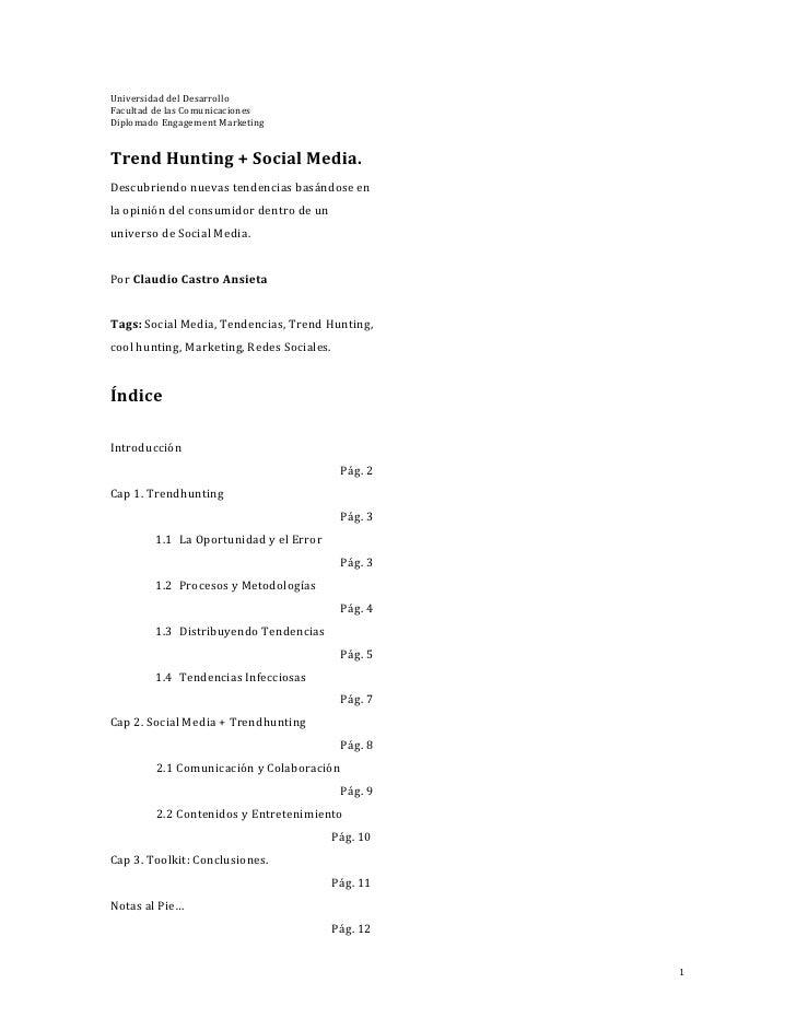 Trend Hunting + Social Media