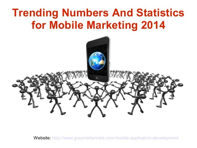 Trending numbers and statistics for mobile marketing 2014