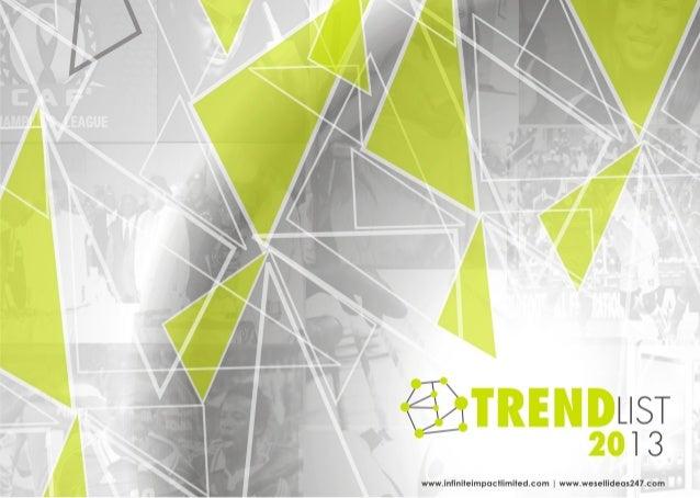 Trend List 2013