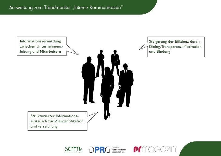 """Auswertung zum Trendmonitor """"Interne Kommunikation""""    Informationsvermittlung                           Steigerung der Ef..."""