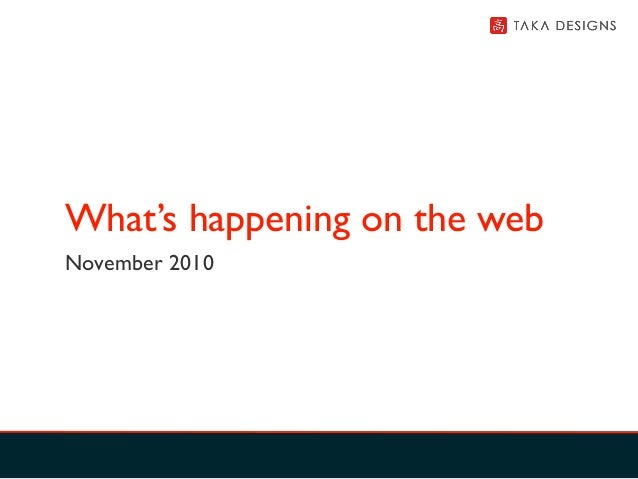 What's happening in social media, branding and marketing on the web - November 2010