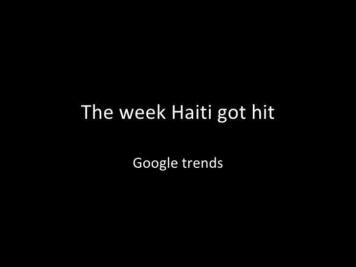 The week Haiti got hit Google trends