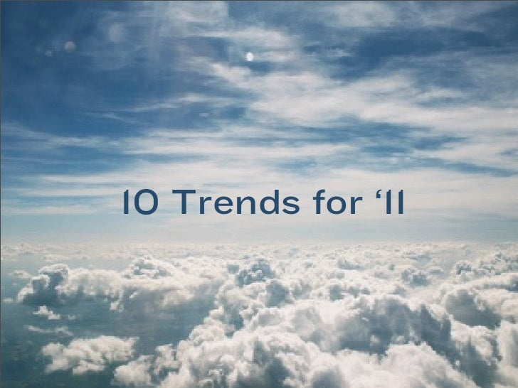 Digital Trends for 2011