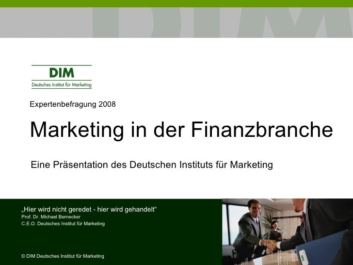 "Studie ""Marketingtrends in der Finanzbranche"""