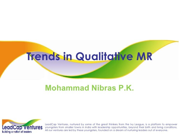 Trends In Qualitative Market Research / Marketing Research