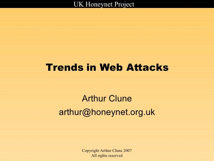 Trends in Web Attacks