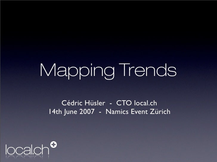 Trends in Web Mapping