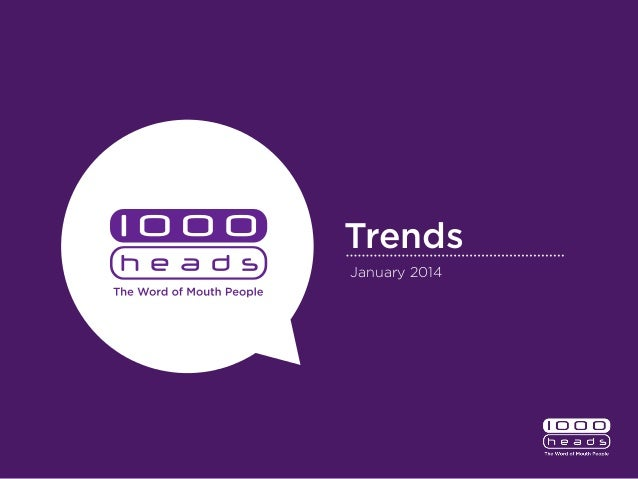 Trends January 2014