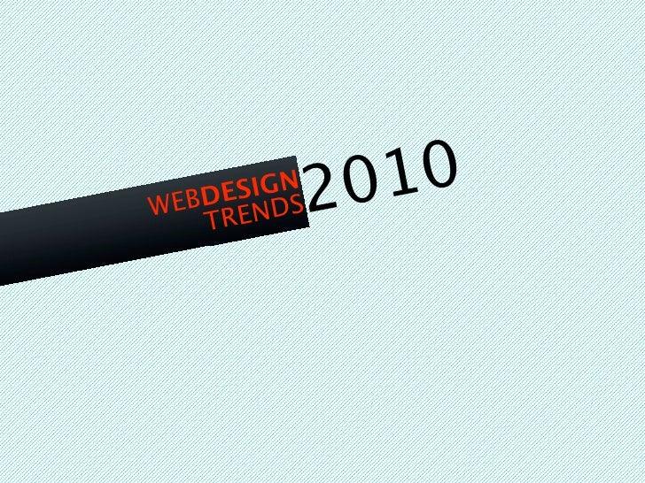 Web Trends 2010