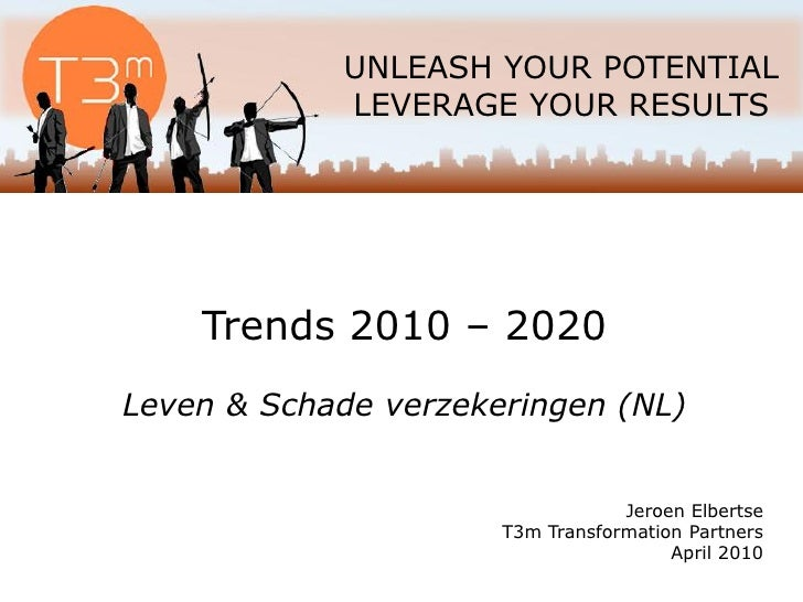 UNLEASH YOUR POTENTIAL             LEVERAGE YOUR RESULTS         Trends 2010 – 2020 Leven & Schade verzekeringen (NL)     ...