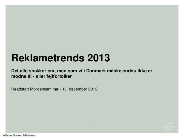 Morten Saxnæs - Trends 2013