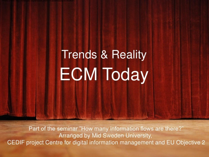 ECM Today - Trends And Reality