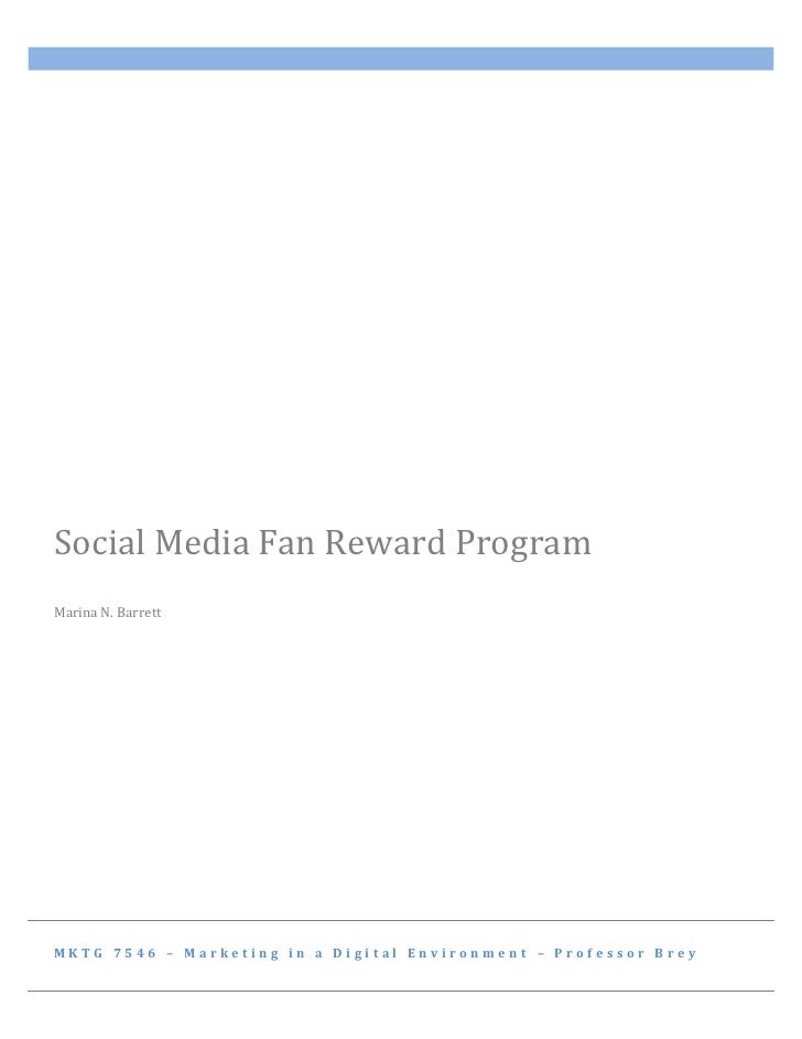 Social Media Fan Reward Programs