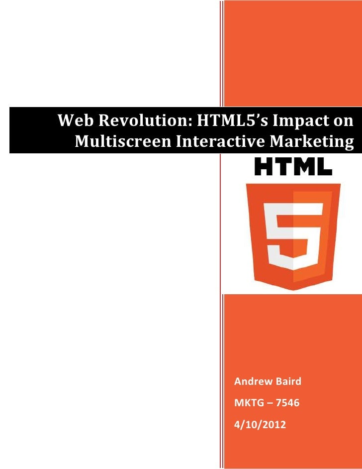 Trends Assessment #2, HTML5, 4-10-12