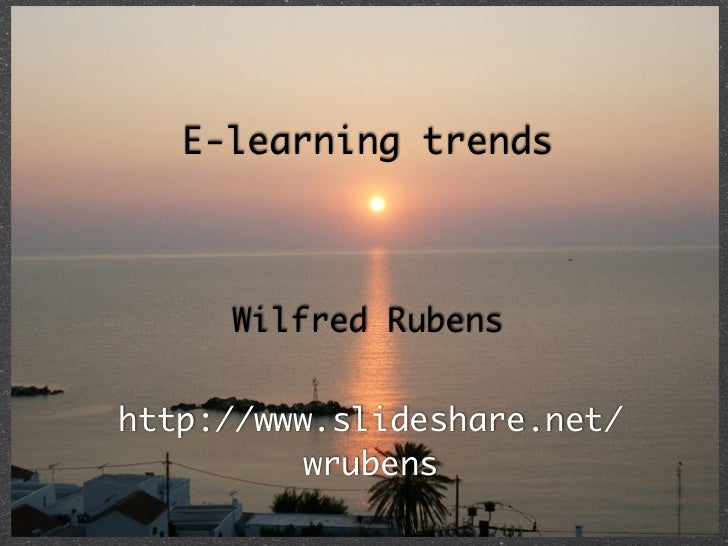 Trends elearning2011