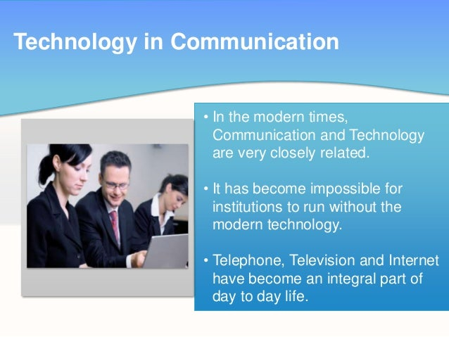 technology trendy communication The focus of the presentation is set to be on how technology isn't just disruptive communication as we know it is being disrupted.