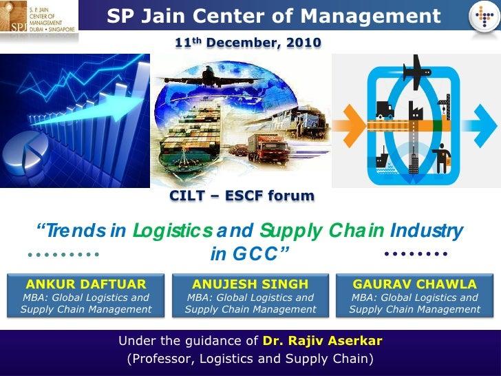 LOGO            SP Jain Center of Management                            11th December, 2010                            CIL...