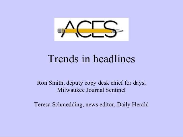 Trends in headlines