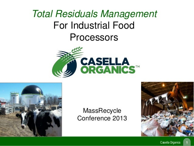 Total Residuals Management for Industrial Food Processors