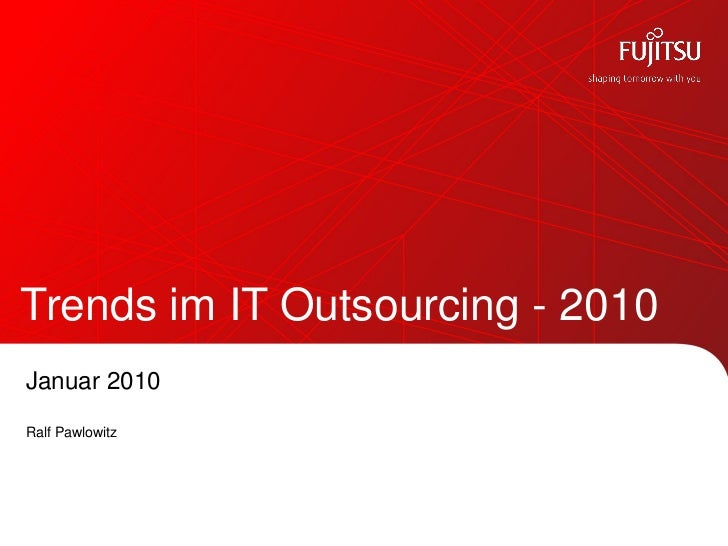 Trends im IT Outsourcing 2010