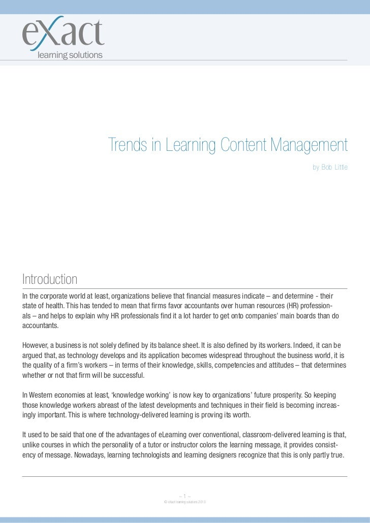 Trends in Learning Content Management                                                                                     ...