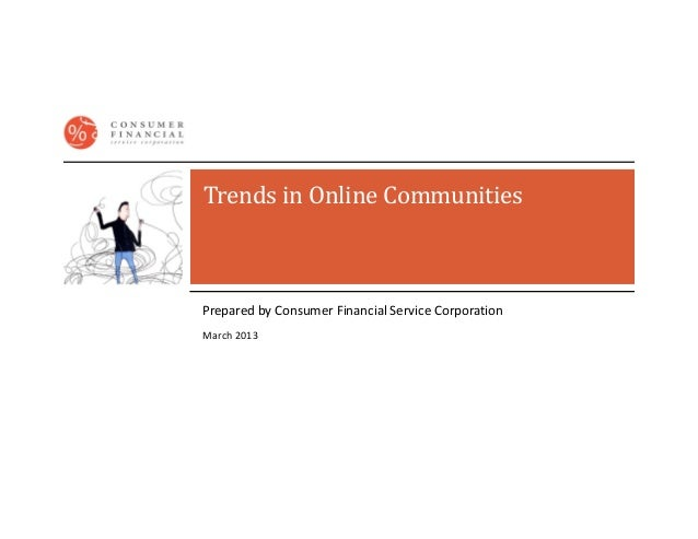 Trends in online communities