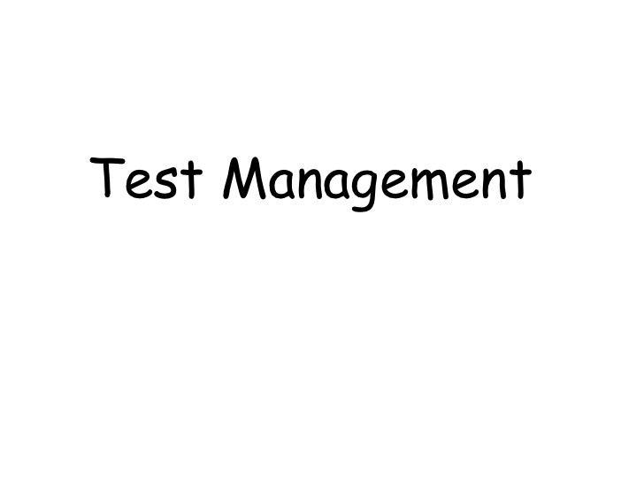 Test Management