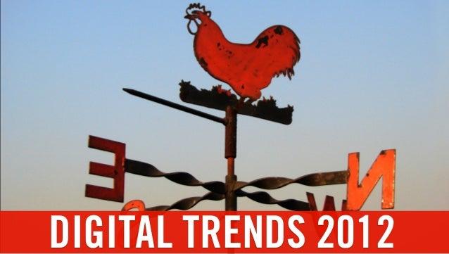 Digital Trends for 2012