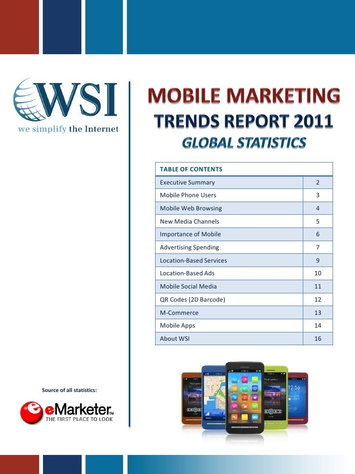 Relatorio de tendencias de mobile da WSI